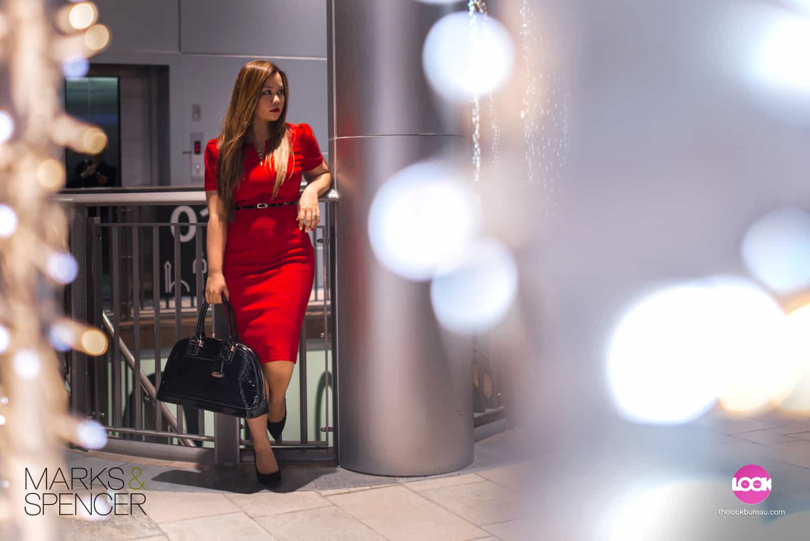 Marks & Spencer Night Look Red Dress