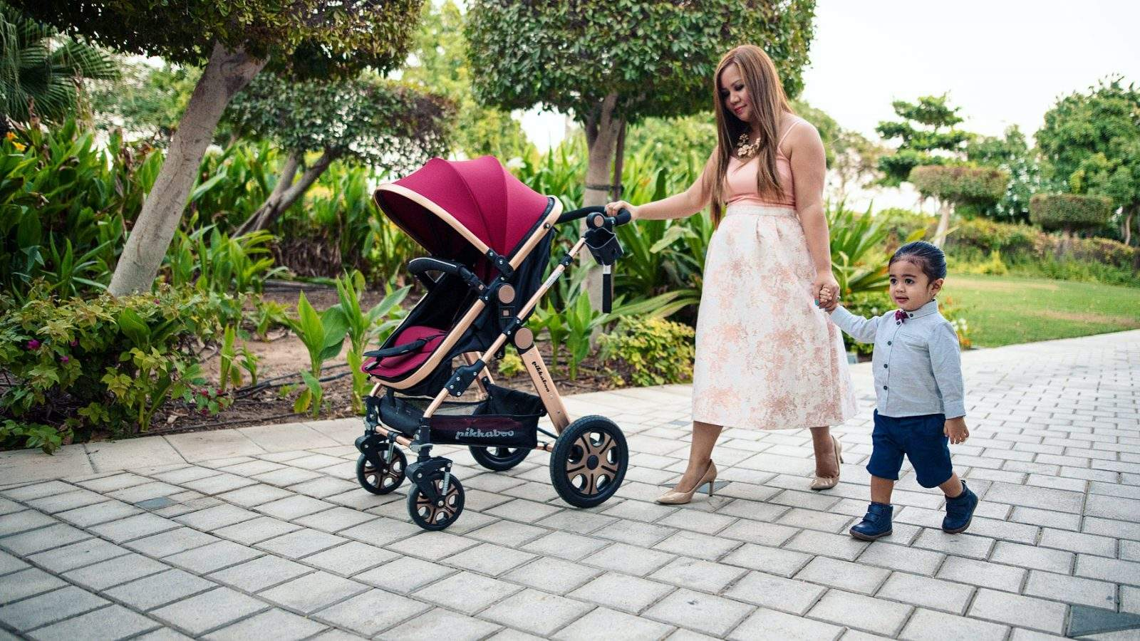 Stroll In Style | Pikkaboo 2in1 Bassinet And Stroller